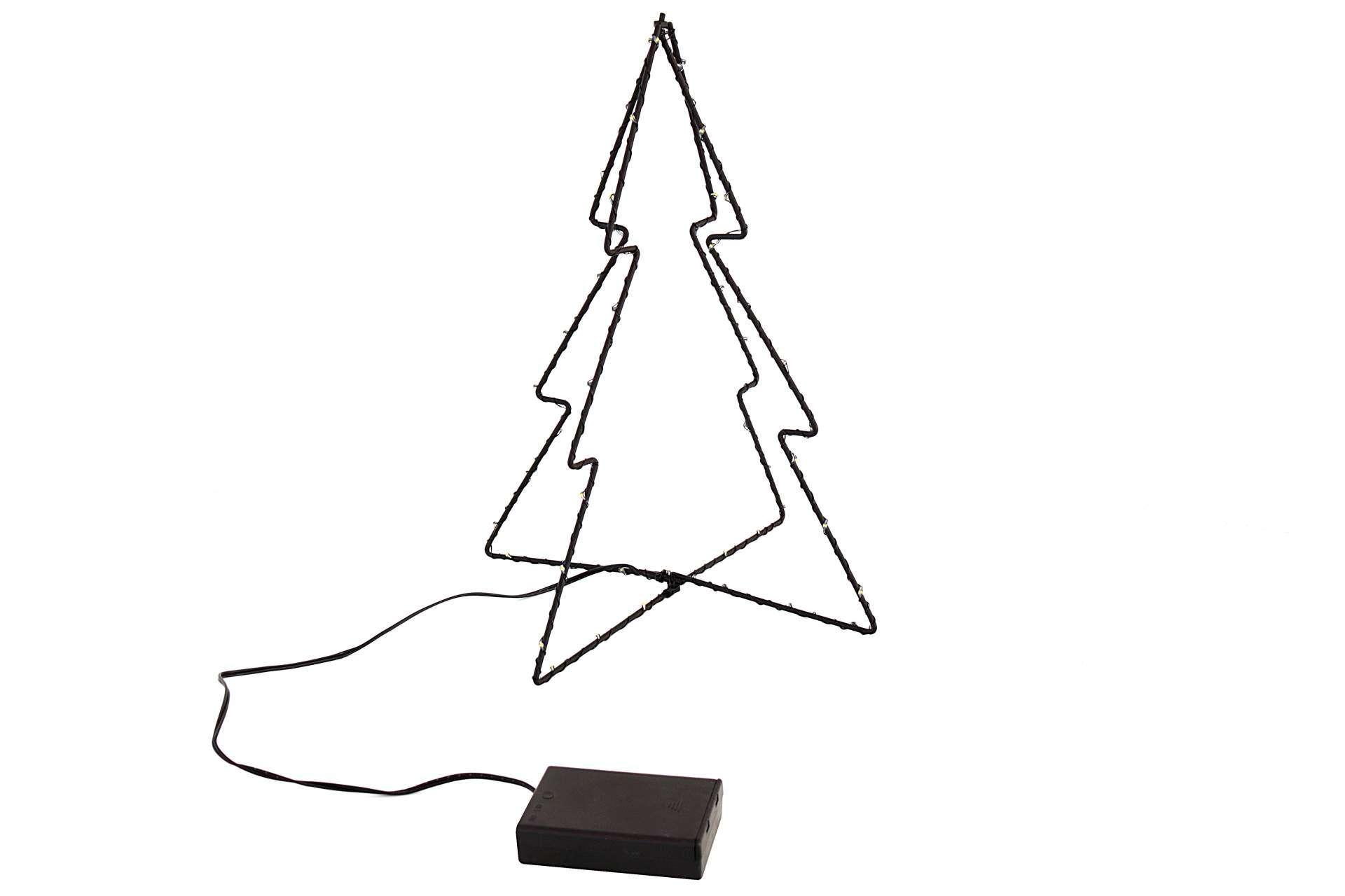 LED Tannenbaum Baum 3D batteriebetrieben 31 cmwarmweiß Innen ...