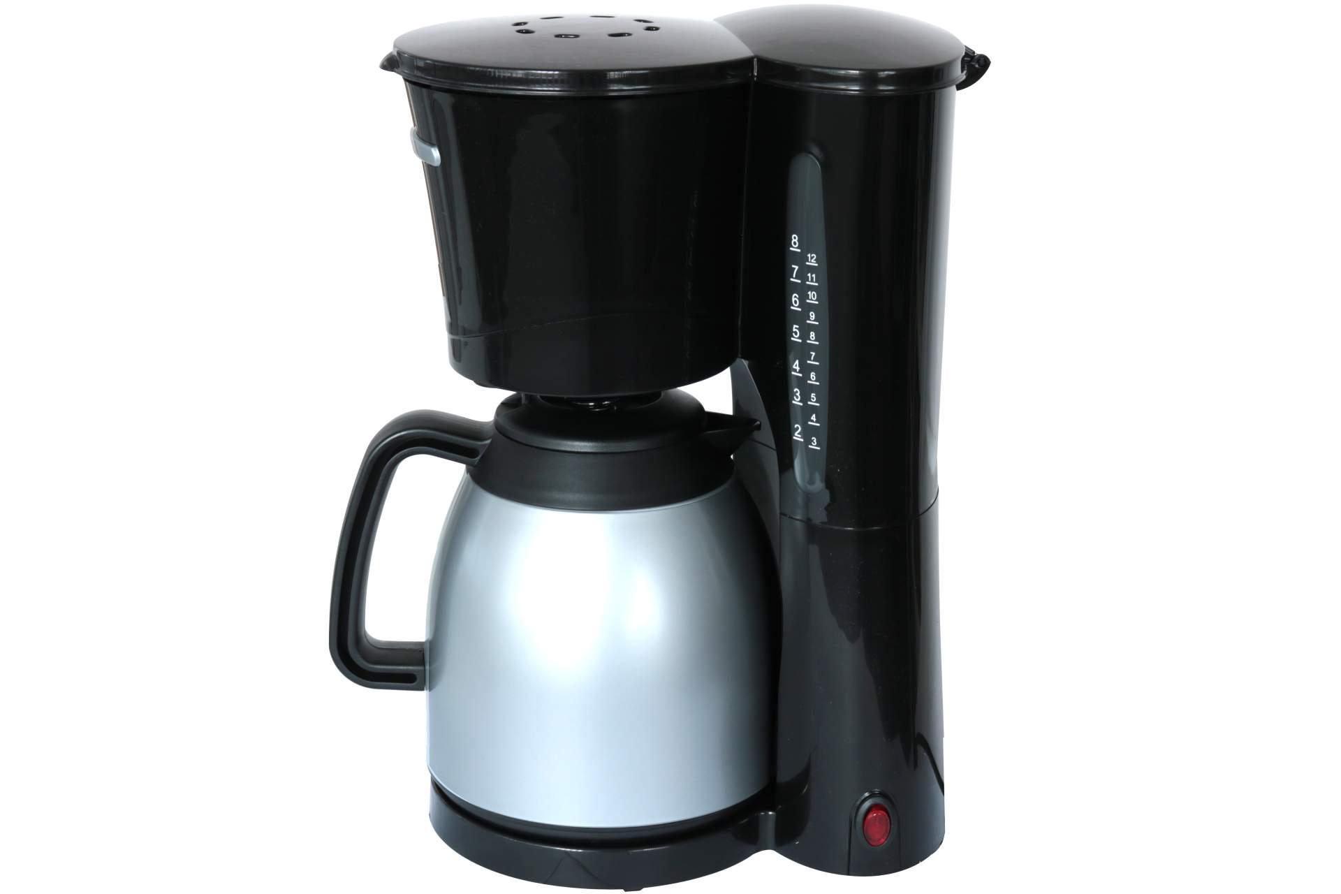 thermo kaffeemaschine 8 12 tassen schwarz 1 ltr. Black Bedroom Furniture Sets. Home Design Ideas