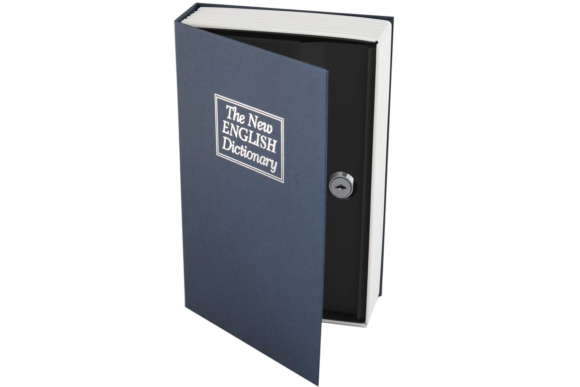buch geldkassette buchattrappe geld mit 2 schl ssel blau haushaltsartikel k che und haushalt. Black Bedroom Furniture Sets. Home Design Ideas