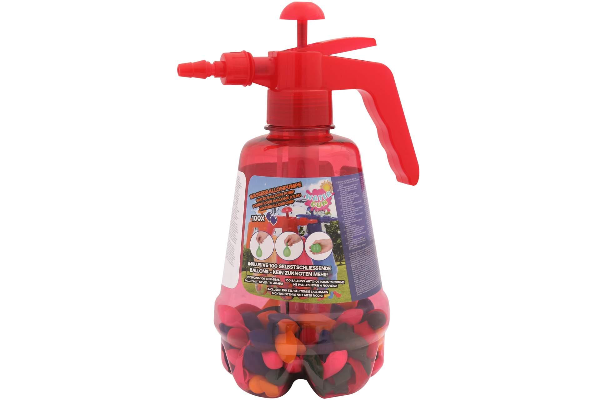 wasserballons 100 stk selbstschlie end ballonpumpe rot spielzeug f r drau en spielwaren. Black Bedroom Furniture Sets. Home Design Ideas