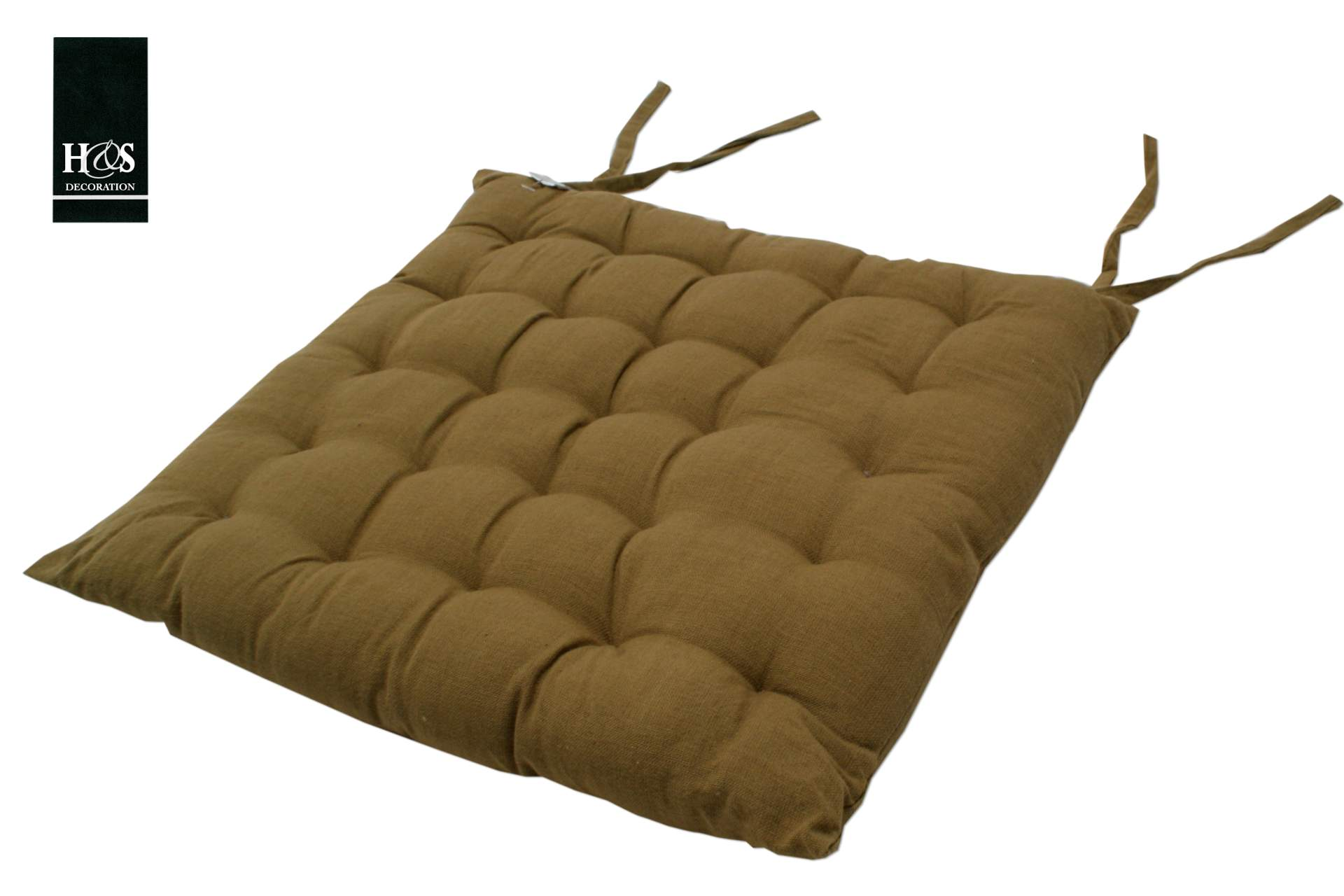 Sitzkissen 40 X 40 Cm Khaki Stuhl Kissen Baumwolle