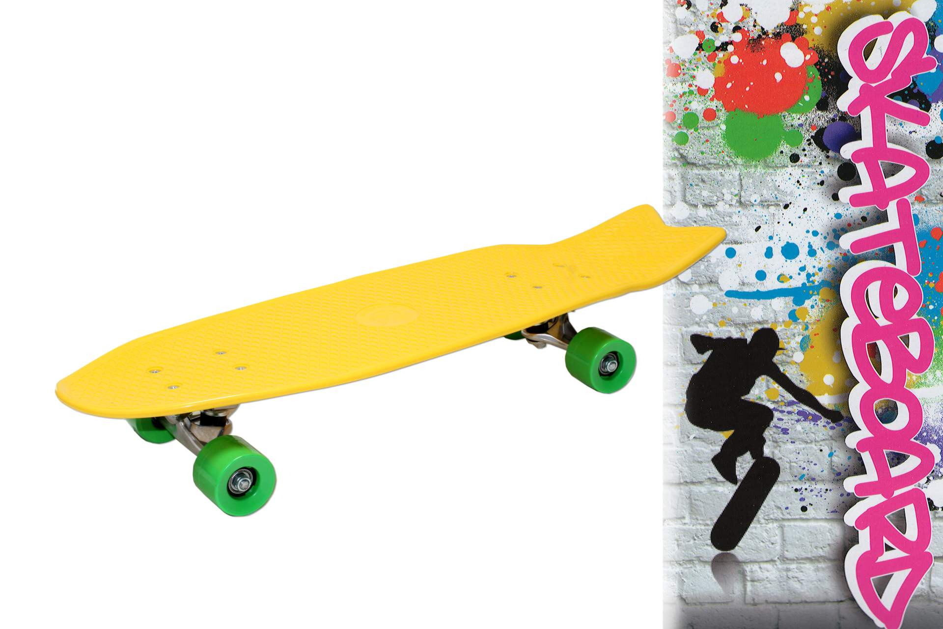 skateboard 27 68 cm f r kinder abec 5 kugellager retro. Black Bedroom Furniture Sets. Home Design Ideas
