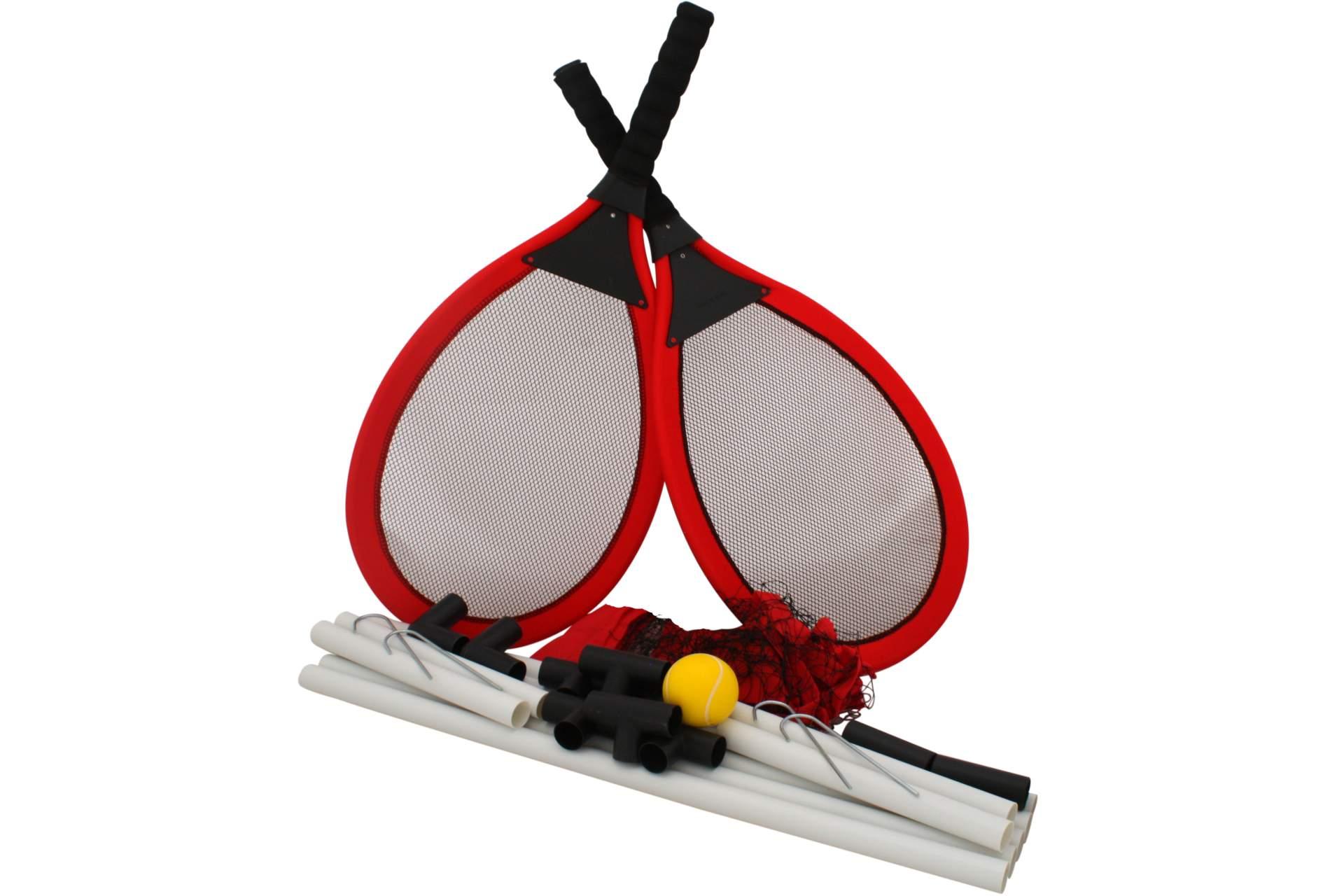 tennisspiel gartentennis f r 2 personen jumbo tennisschl ger spielzeug f r drau en. Black Bedroom Furniture Sets. Home Design Ideas