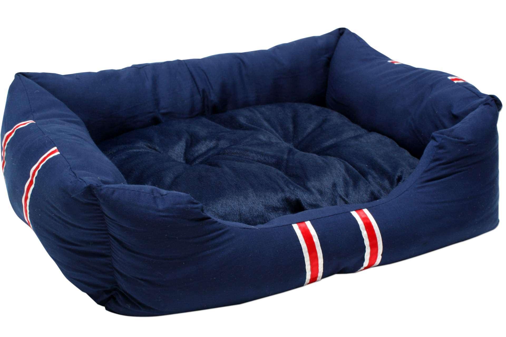 Hundebett mit Kissen blau 70 x 57 x 20 cm 2 tlg Hundekissen Ausverkaufsartikel Schnäppchen