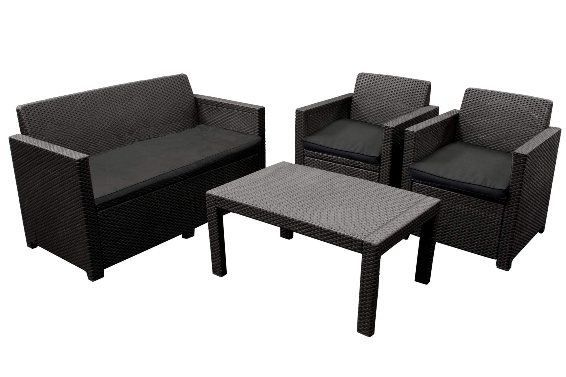lounge sitzgruppe orlando allibert poly rattan anthrazit gartenm bel haus und garten. Black Bedroom Furniture Sets. Home Design Ideas