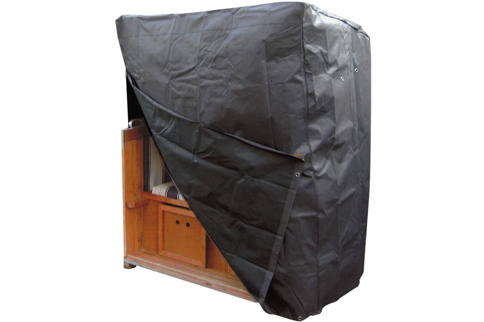 strandkorb schutzh lle kynast komfort grau 155cm schutzhaube gartenm bel haus und garten. Black Bedroom Furniture Sets. Home Design Ideas